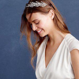 Jennifer Behr Alisha Swarovski Headband Gunmetal